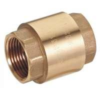 Клапан обратный с латунным золотником - Внутренняя-внутренняя резьба